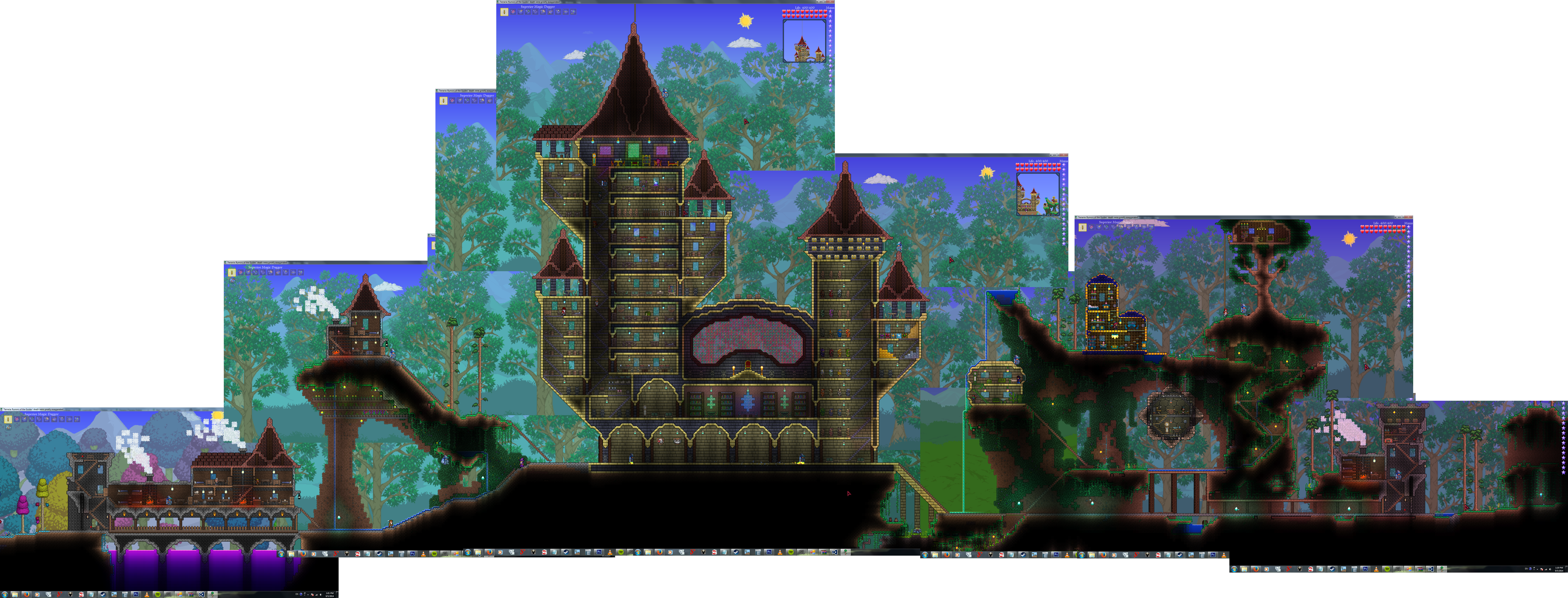 Terraria-07-Castle+Village by Unfiltered-N