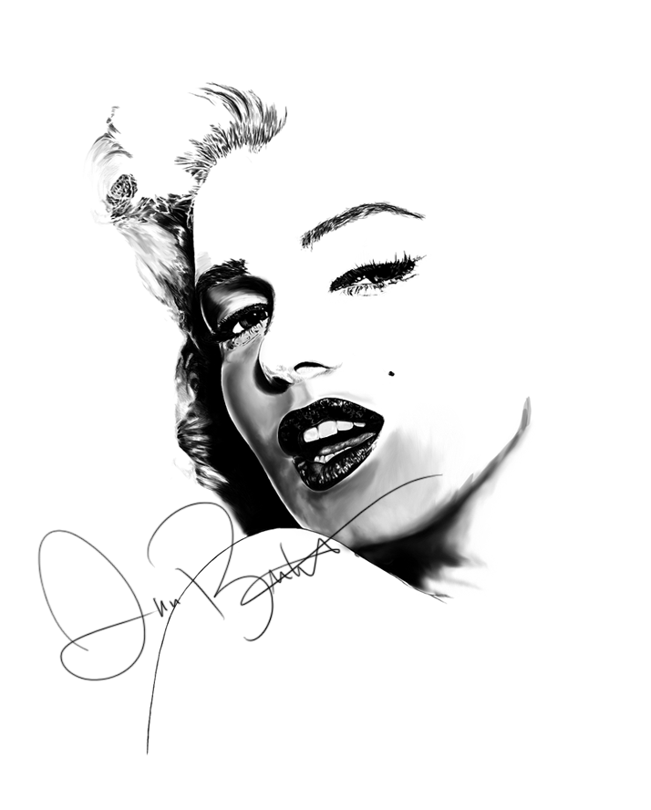 Marilyn Monroe WIP 3 by annbuht