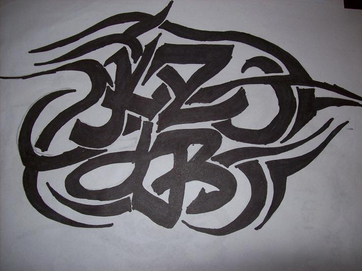 tribal lettering tattoo designs. tribal tattoo design 2