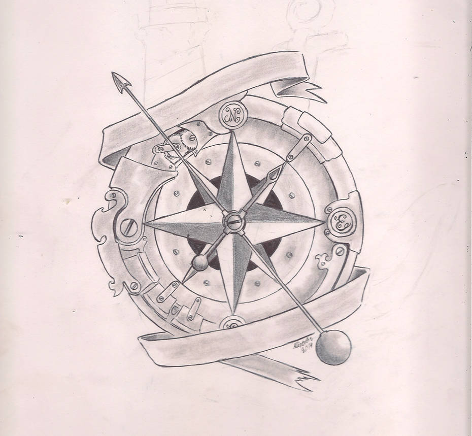 37fa8f01a8779 Steampunk compass by IcenHeart on DeviantArt
