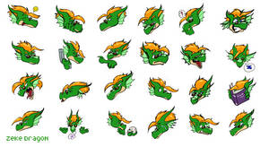 emoticons - Zeke Dragon