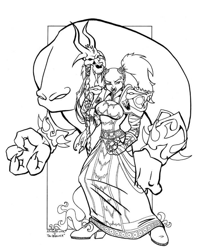 Orc Warlock By Lizardbeth On DeviantArt