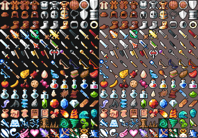 16x16 RPG Icons - Pack 1 - Free Sample