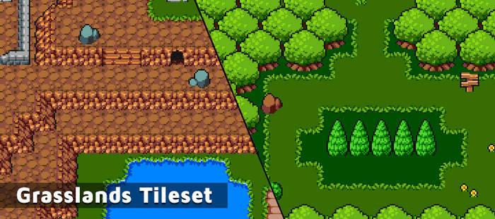 16x16 Grasslands Tileset