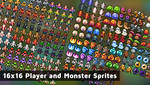 16x16 Player and Monster Sprites
