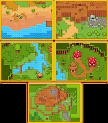 RPG Grasslands Tileset Pack by 7Soul1