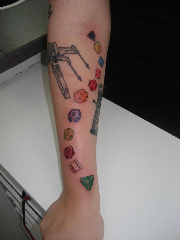 Geek Arm- Dice by meletique