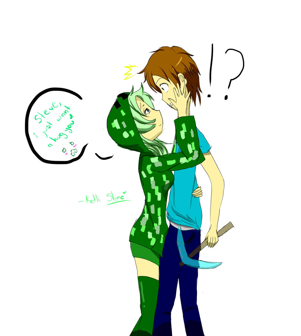 Minecraft creeper and steve by kathshine on deviantart - Creeper anime girl ...