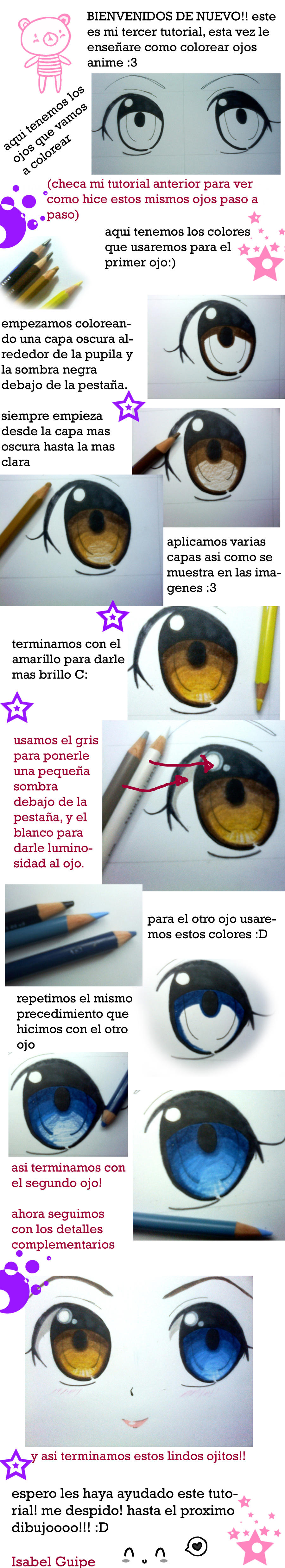 tutorial coloreando ojos anime by fresitarubia