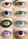 realistic naruto eye's