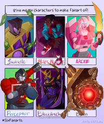 Six character fanart challenge