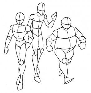 Aprender a desenhar mangá passo a passo corpo