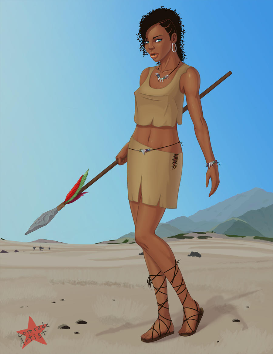 African Warrior by ComradeArtist