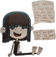 Lucy Loud wants to join the heroes' club by HyperDolphin