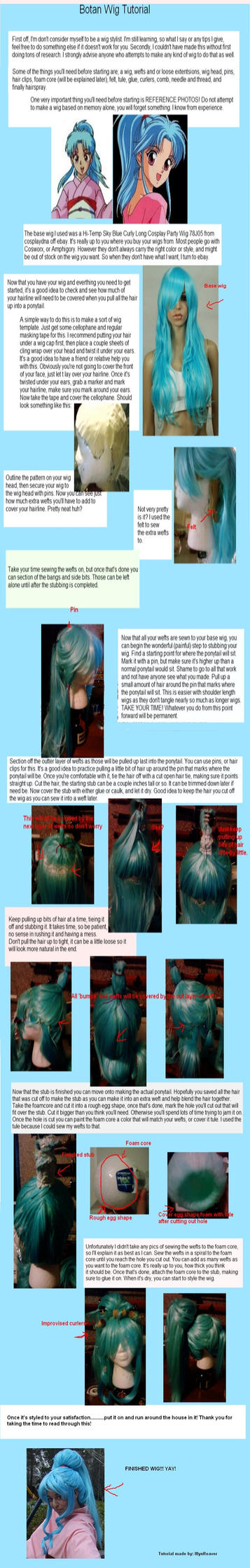 Botan Wig Tutorial by IllynReaver
