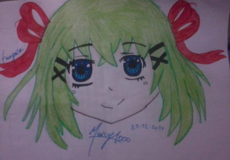 Gumi Megpoid (short hair) by marcy1000