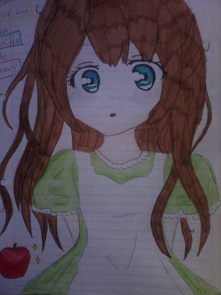 Kawaii Apple Random Girl (PAINTED) by marcy1000