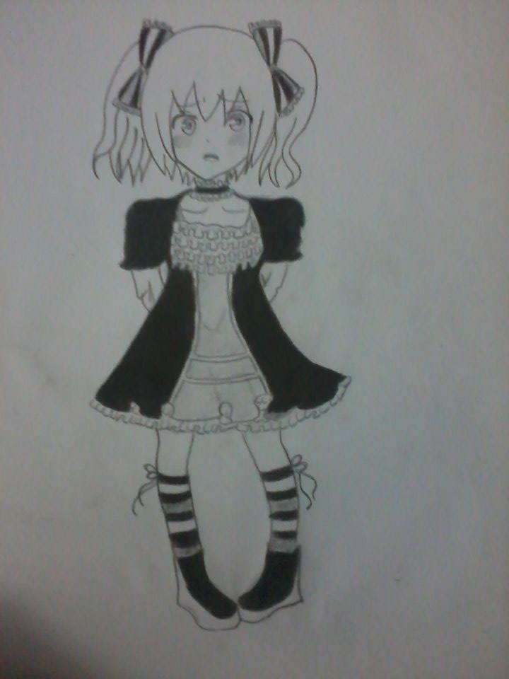 Gothic Lolita Black and White by marcy1000