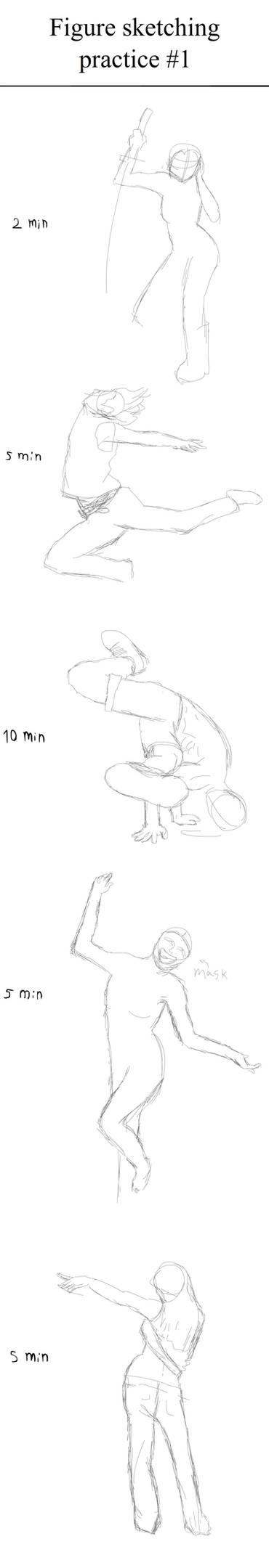 Figure sketching practice #1
