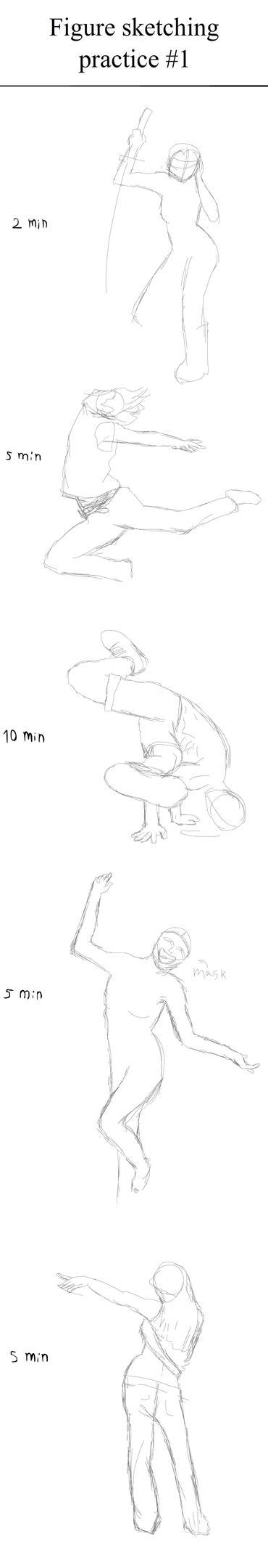 Figure sketching practice #1 by Wofk