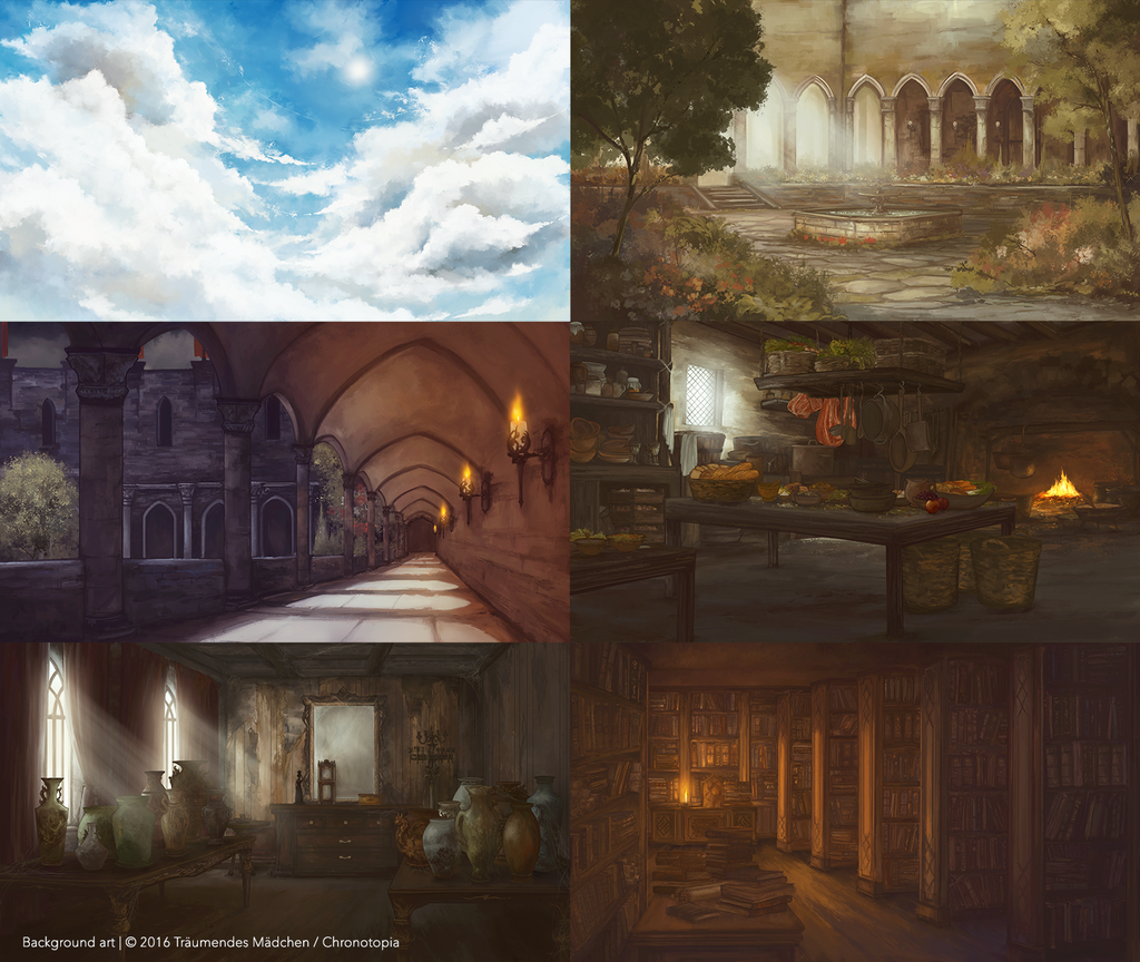 [VN] Chronotopia Demo Backgrounds by PyriteKite