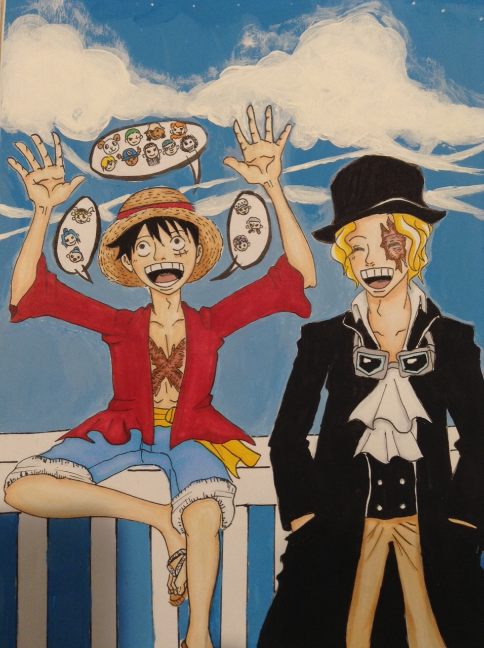 sabo and luffy meet again manga