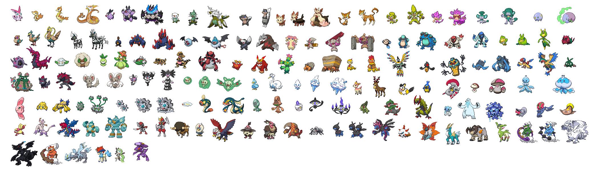 Fotos de todos los pokemon de teselia 2