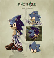 Sonic Hedgehog: Coloured Early Concept Design