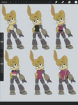 Bunnie Rabbot: Outfit Concepts