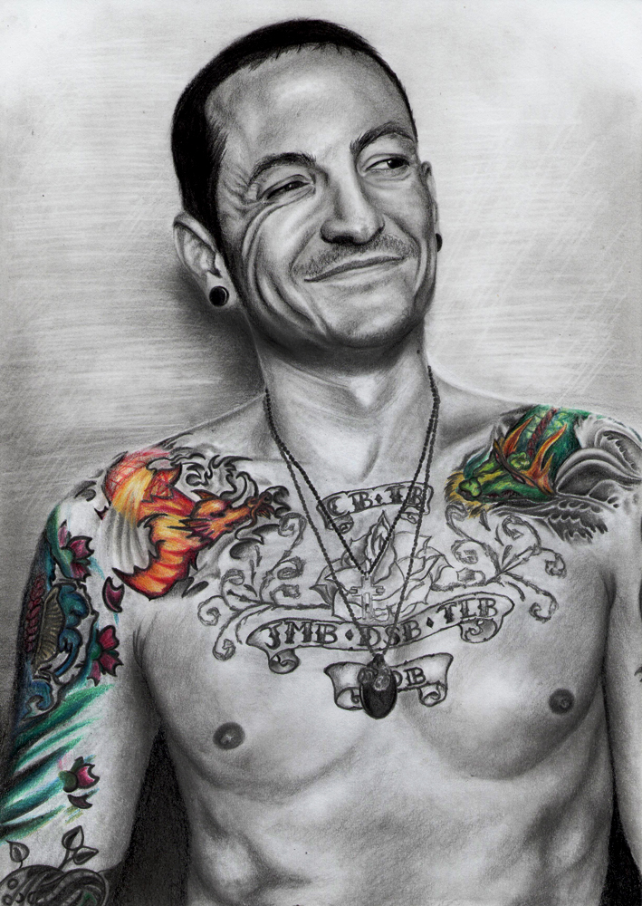 Chester bennington by hilly16 on deviantart for Tattoo shops in west chester