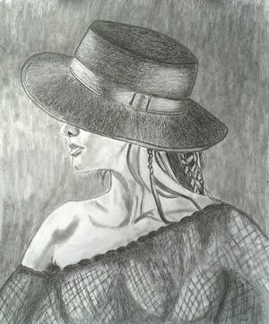 WOMAN  IN HAT by m-gosia