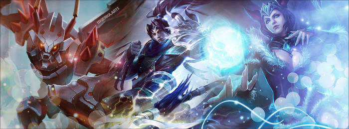Ahri KhaZix League of Legends Facebook cover photo