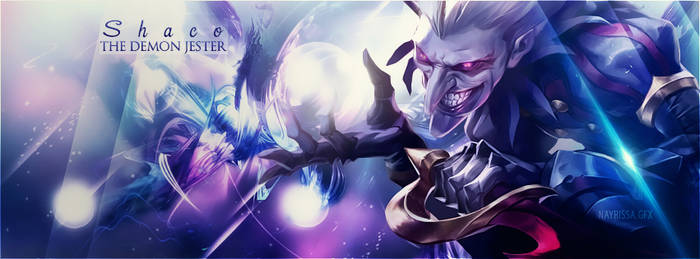 League of Legends Shaco Facebook cover photo by Iskierka0