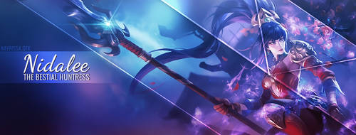 Nidalee League of Legends facebook cover photo by Iskierka0