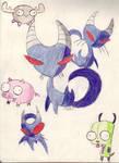 Invader Zim 'Animals' Dump by kidate15