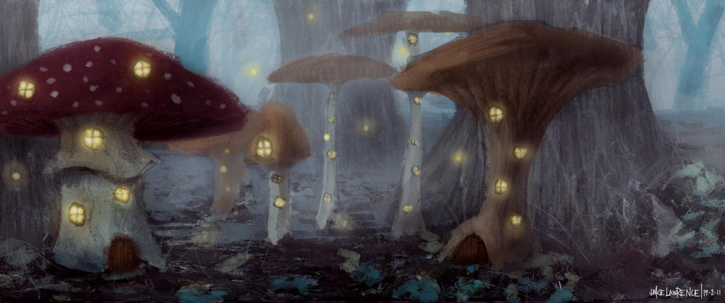Mushroom Houses by Jake-Labz