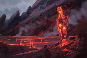 Inside the Volcano by AlexAlexandrov