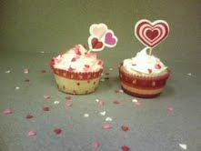 Valentine's cupcakes by SourKiss