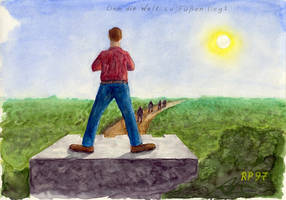Having the World at his Feet by Eisenholz