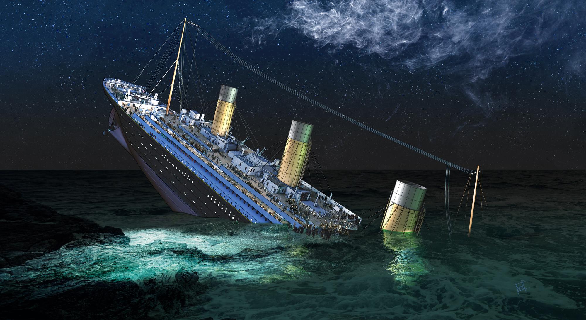 Titanic Sinking Environment Concept by DimitarKatsarov on ...