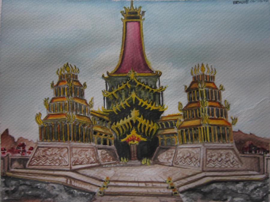Avatar: Fire Nation Royal Palace by lolbenjo