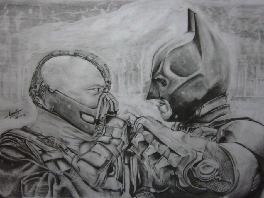 Bane Vs Batman by lolbenjo on DeviantArt