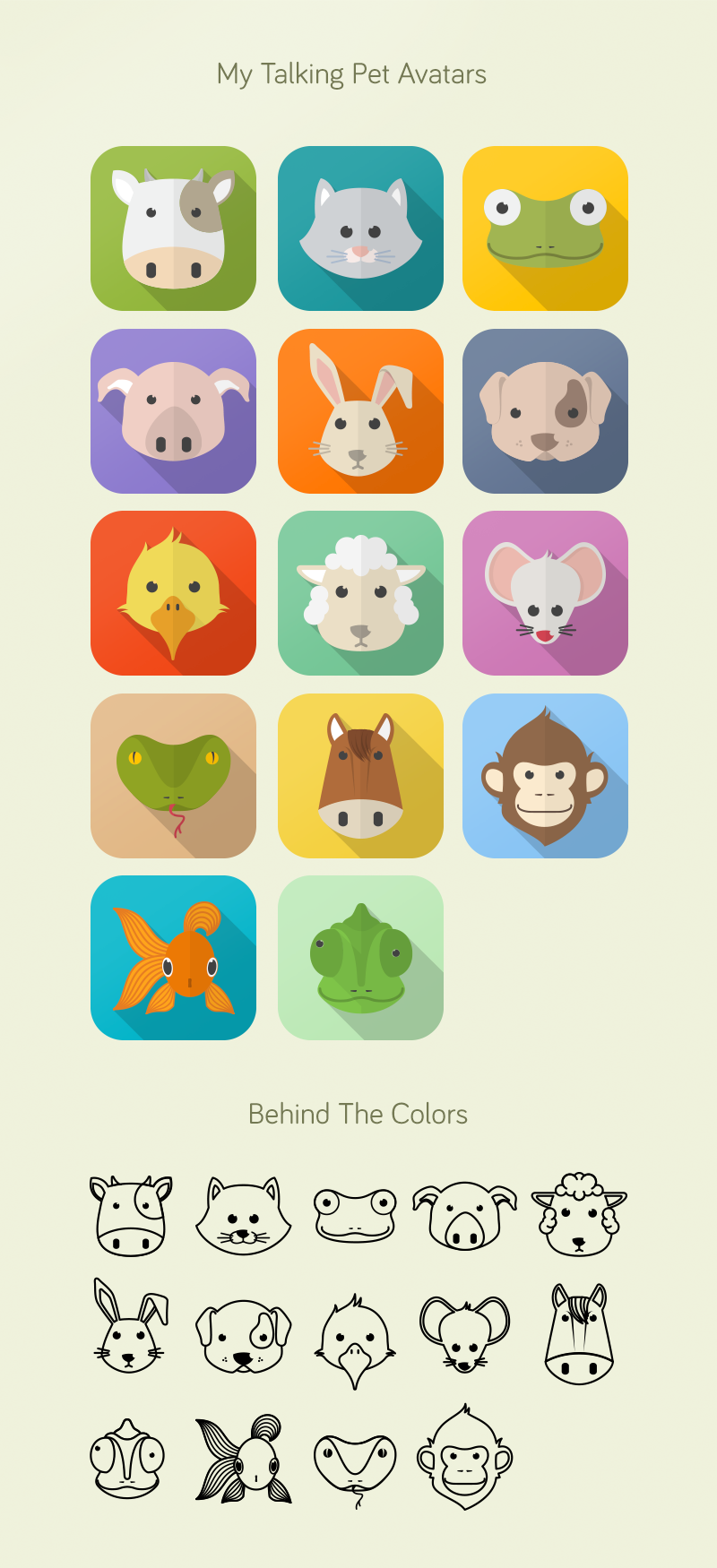 My Talking Pet Avatars/Icons by NunoDias