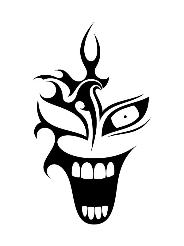 Evil Clown Tattoo Designs Free