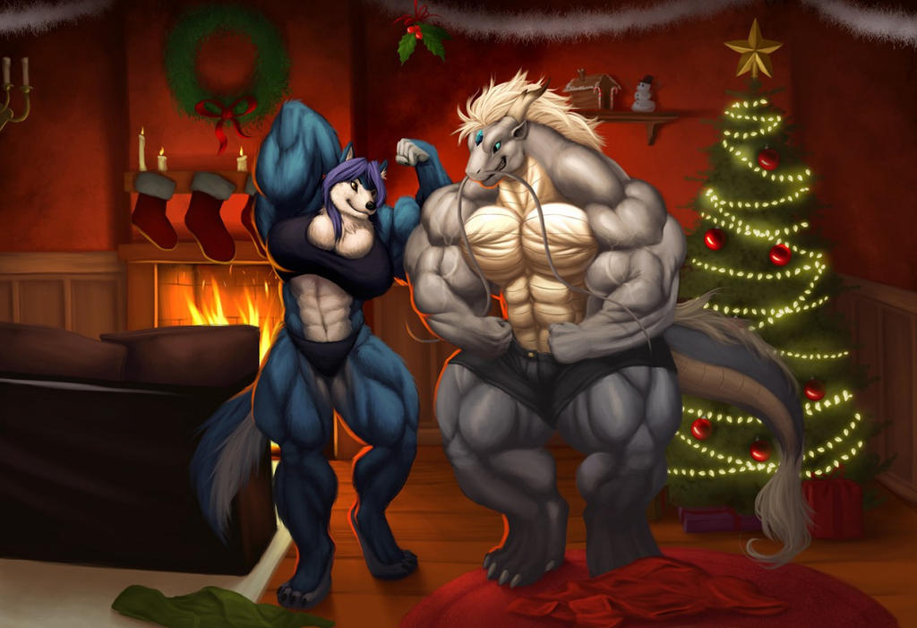 Flexmas Holiday by HopeyWolf