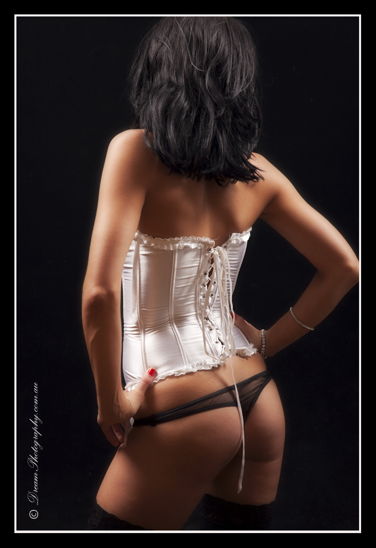 White Corset by DreamPhotographySyd