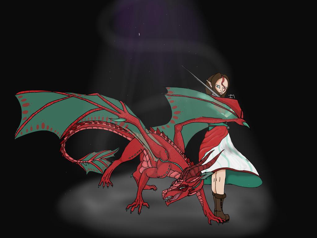 Light in the Dark.  -    Dragon Queen Fan Art