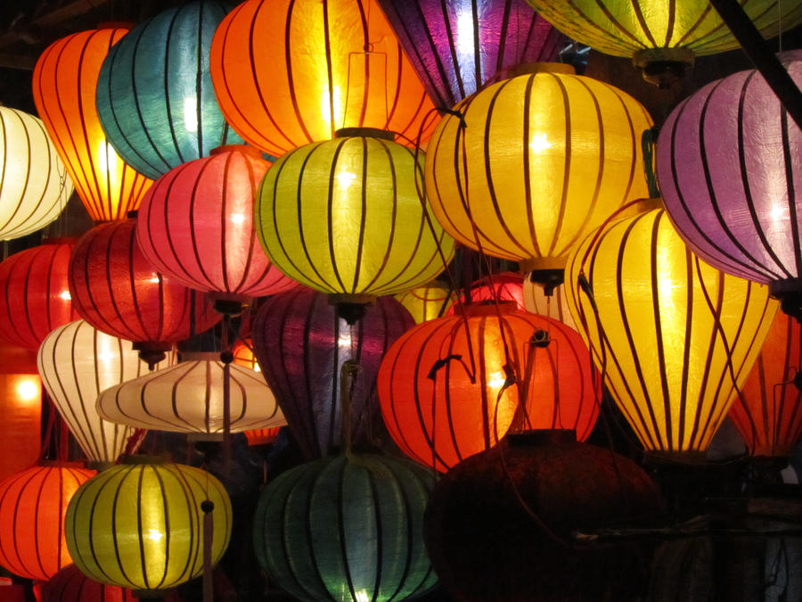 Lanterns of Hoi An by spazzkemmi