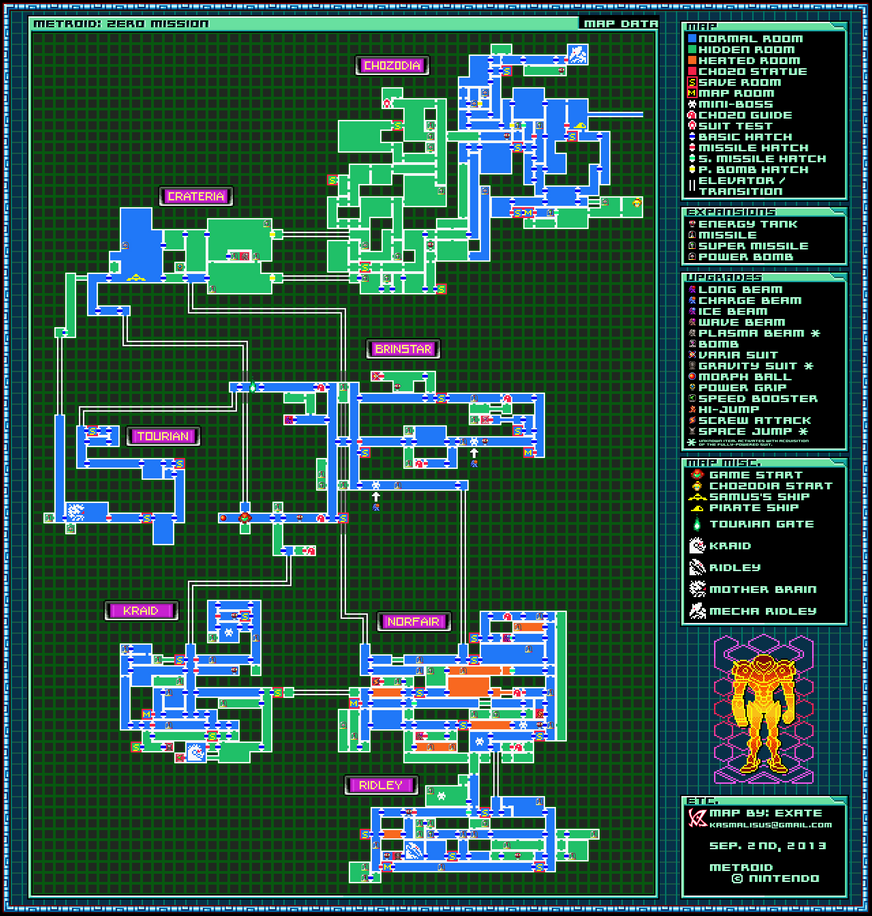 Metroid Zero Mission Map By Exate On Deviantart