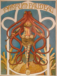 Octopus Nouveau by ChiffonSigh